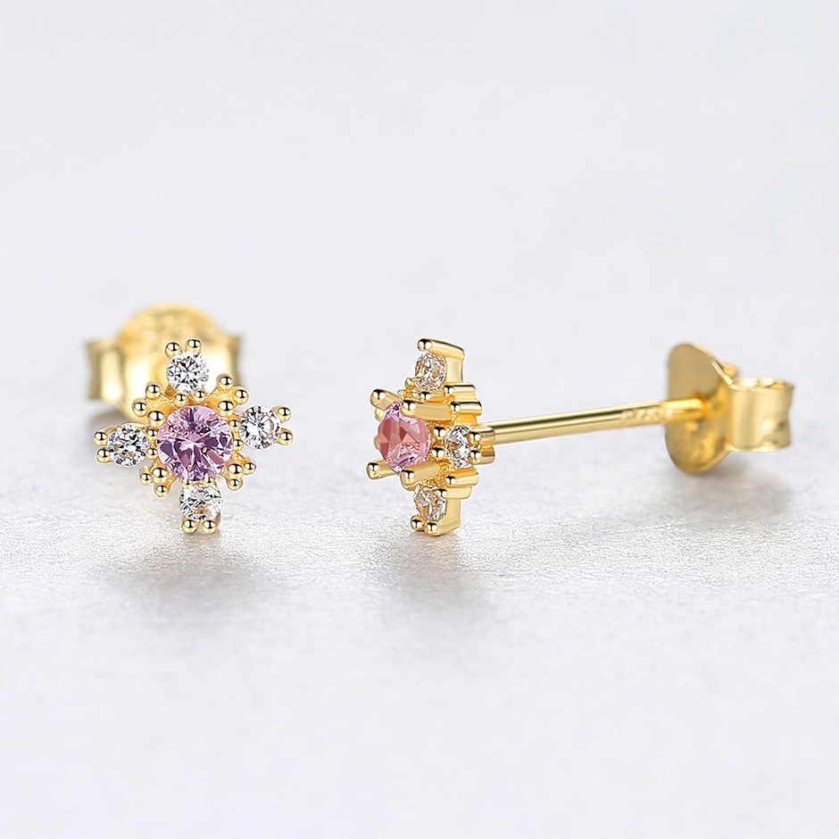 Klejnot i czas Nano szmaragd rosyjski Snowflake stadniny kolczyki Sterling 925 srebrny kolczyk dla kobiet kamień biżuteria joyas de plata 925