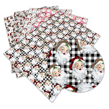 Christmas-Hat L341 Bag-Material Fabric Printed 22x30cm Faux-Leather Character A4
