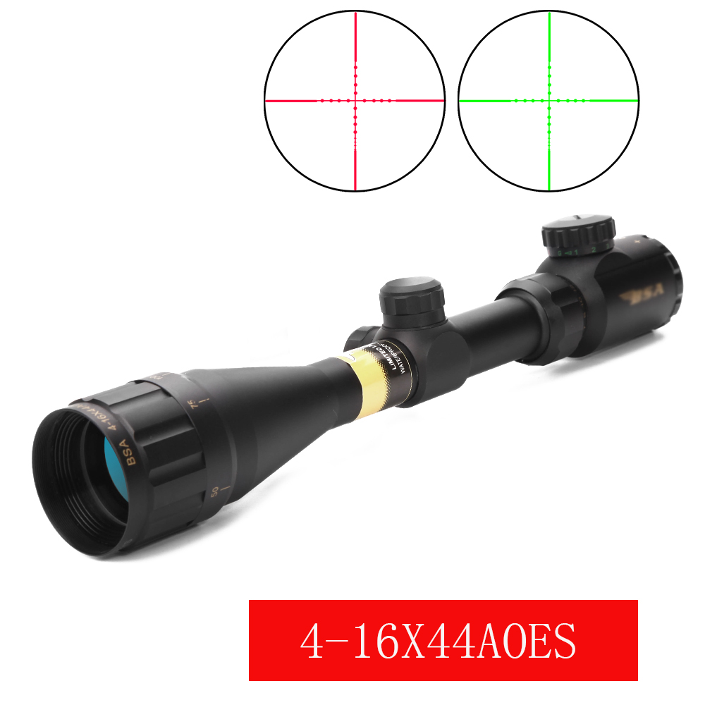 Optical Sight Riflescope Tratical Hunting 4-16X44AOEYS Adjustable Red Green Illuminated Riflescope For Airsoft Air Gun Sniper
