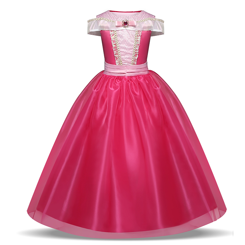Girls Princess Dress Fancy Dress for Children Kids Halloween Costume Clothing Dress Up Girls Vestidos 6