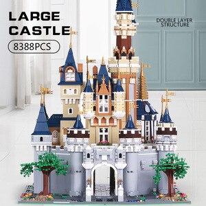 Image 2 - Плесень король 13132 Игрушки совместимы с 71040 Золушка Принцесса замок Модель Строительный блок Детские игрушки Подарки Дети Рождественские игрушки