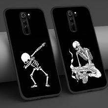 Funny Skull Case For Xiaomi Redmi Note 9 8 7 8A 7A 8T 6 Pro Mi 10 9 8 9T Pro SE A3 A2 Lite F1 Phone Cases Soft Cover Funda Coque