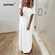 Women Off Shoulder Elegant Boho Dress 2020 Sexy Solid Pocket Split Beach Summer Dresses Ladies Strapless Long Maxi Dress Vestido