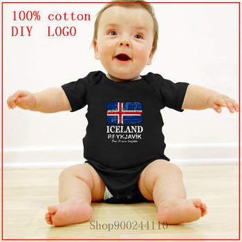 2020 Baby Boys Clothes Toddler Costume Bodysuits Baby Girls Clothes Iceland Flag Design new born baby boy clothes 3 to 6 months image