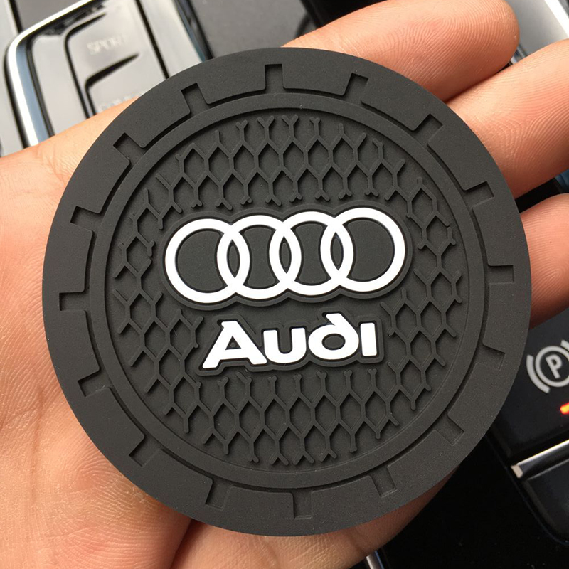 1 sztuk 7cm silikonowy samochód mata antypoślizgowa przypadku coaster wody pad dla Audi a3 a4 a5 a6 a7 a8 Q3 Q4 Q5 Q6 Q7 b8 b6 akcesoria samochodowe