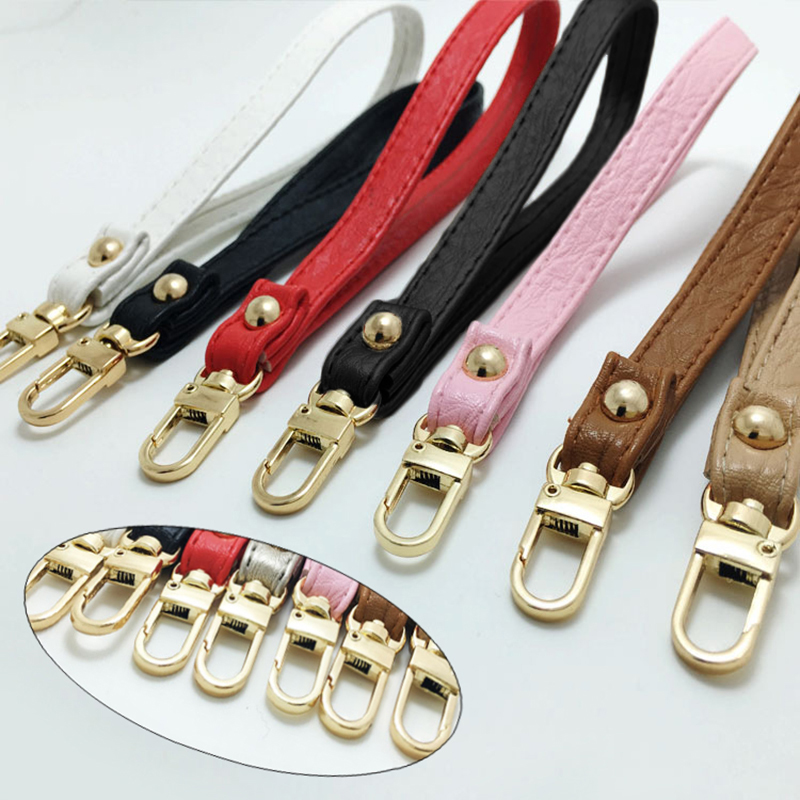Detachable Bag Handles Replacement Bag Strap Women PU Leather Short Bag Parts Handbags Buckle Belts Straps Bag Accessories