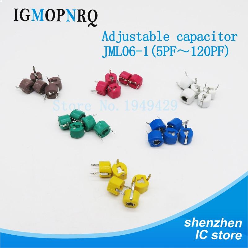 20pcs JML06-1 6mm 5P 10P 20P 30P 40P 50P 60P 70P 120P Trimmer Adjustable Capacitor 5PF 10PF 20PF 30PF 40PF 50PF 60PF 70PF