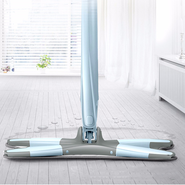 X type Floor Mop with Replace Microfiber Mop Cloth Auto Extrusion Wash Free Flat Mops for House Cleaning Kitchen Cleaning Tools