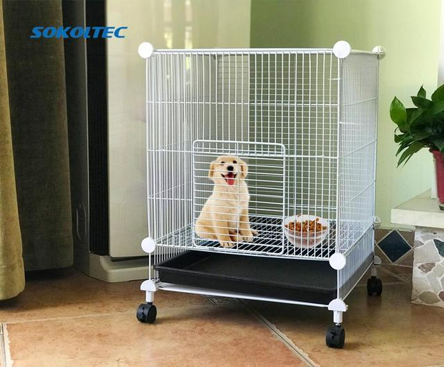 הכלוב עבור לחיות מחמד עבור כלב הולם עבור חתול שתן קערת לול כלוב מוצרים אבטחת שער עבור ארנב עם גלגלים