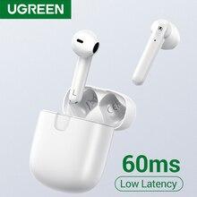 UGREEN HiTune T2 Bluetooth 5.0 True Wireless Earbuds TWS 4 Mic Stereo Earphones Gaming Mode 60ms Low Latency Wireless Charging