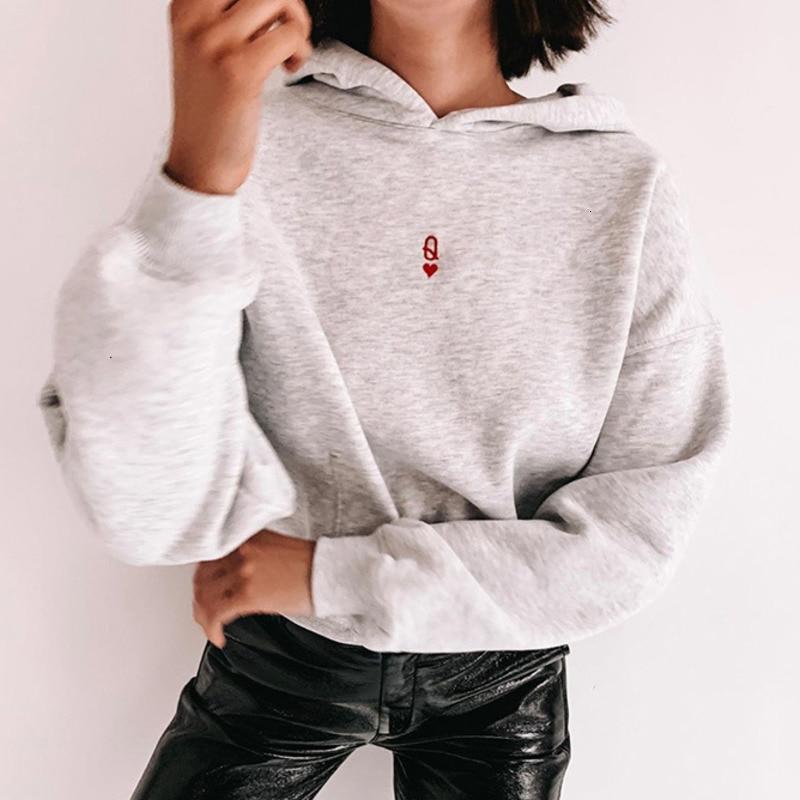 Embroidery 2019 Harajuku Solid Sweatshirt Women Long Sleeve Hoodie Loose Women Hoodies Sweatshirts Casual Tracksuit