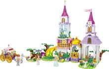 644pcs Carriage Princess Building Blocks Set Girl Friend DIY Model Brick Toys For Children Kids Birthday Gifts все цены