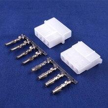 50 zestawów ATX / EPS Molex 5.08mm 4 Pin męski/siła żeńska obudowa złącza + zaciski do komputera ATX EPS Power