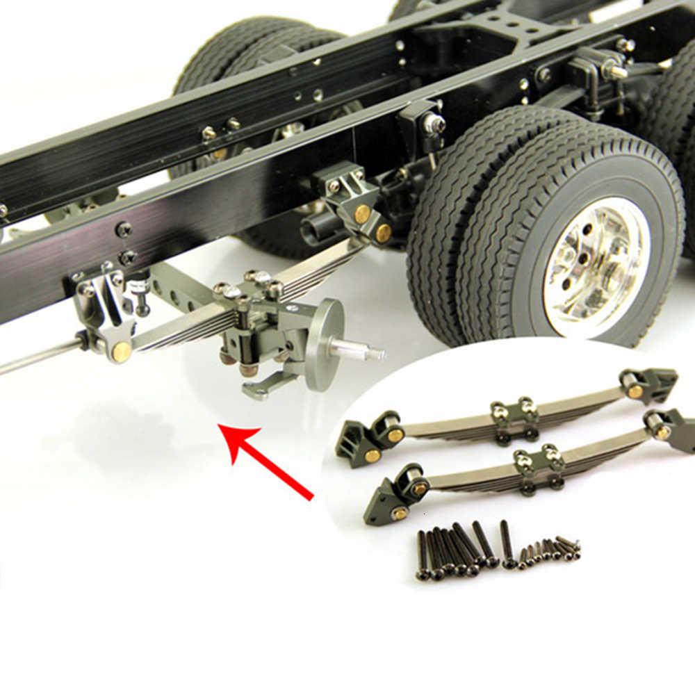 1 Paar Metalen Unpower Vooras Suspension Voor 1/14 Tamiya Rc Auto Tow Slepen Trailer Truck Man Scania Upgrade Onderdelen