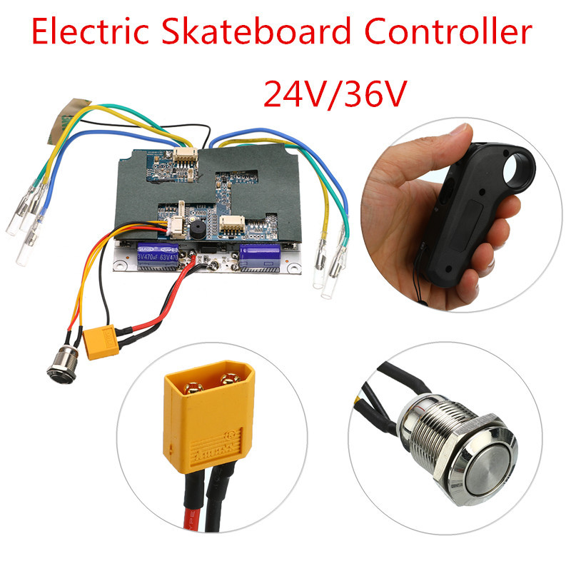 24V/36V Electric Skateboard Controller Longboard Remote Control Dual Motors ESC Parts Scooters Skate Board Accessories