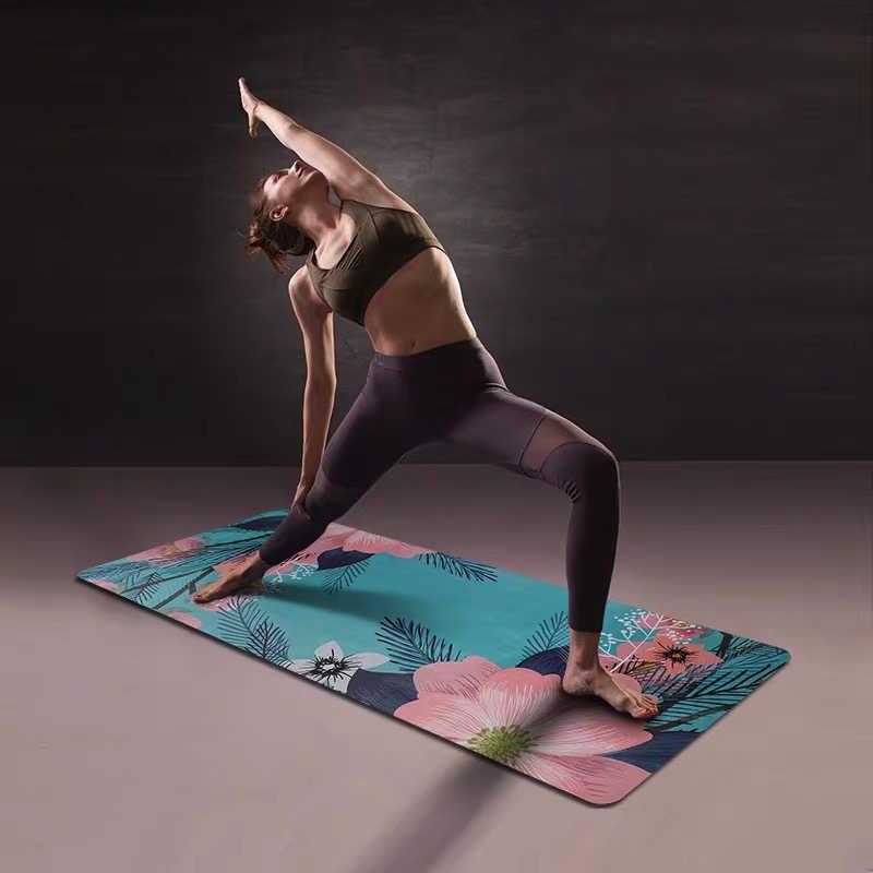 Gomma naturale In Pelle Scamosciata di Yoga Zerbino Due su due lati antiscivolo Ampliamento Portatile Pieghevole Tovagliolo di Yoga Palestra Fitness Esercizio Zerbino pilato Tappetino Danza