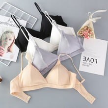 Women Bra Female Ring-Free Cup Sexy Bra Threaded Wrap Chest Women Comfortable Underwear Brassiere Femme Lingerie Seamless Bra(China)