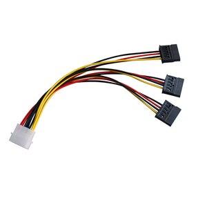 4 pin IDE Molex to 3 Serial ATA SATA Power Splitter Extension Cable Connectors