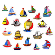 Sailing series embroidered cloth stickers European and American style patch computer embroidery shoes and hats accessories(China)