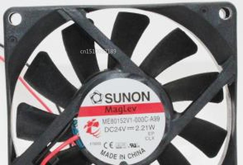 For ME80152V1-000C-A99 Server Cooler Fan DC 24V 2.21W 80x80x15mm 2-wire Free Shipping