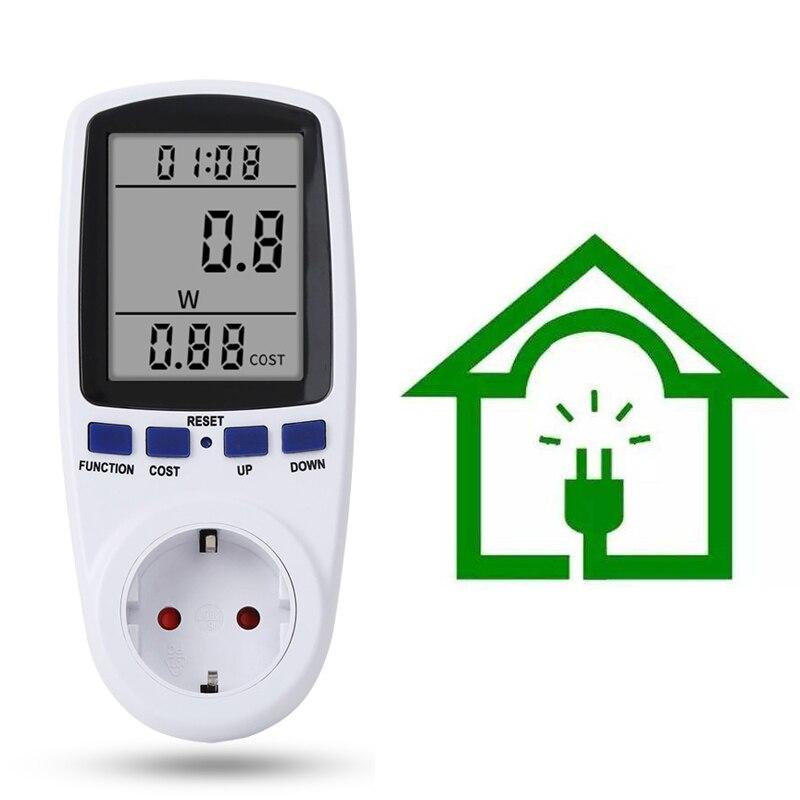 Wattmètre numérique Analyseur De Puissance Compteur Dénergie Électronique De Mesure Prise avec fonction de Mémoire LUE UK AU BR Prise AMÉRICAINE