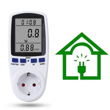Medidor de potencia Digital, medidor de energía electrónica, toma de corriente de medición con función de memoria, enchufe EU, UK, AU, BR, US