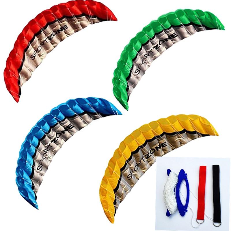 Parachute de haute qualité, 2.5m, double ligne, 4 couleurs, Parachute, sport, cerf-volant de plage, facile à voler