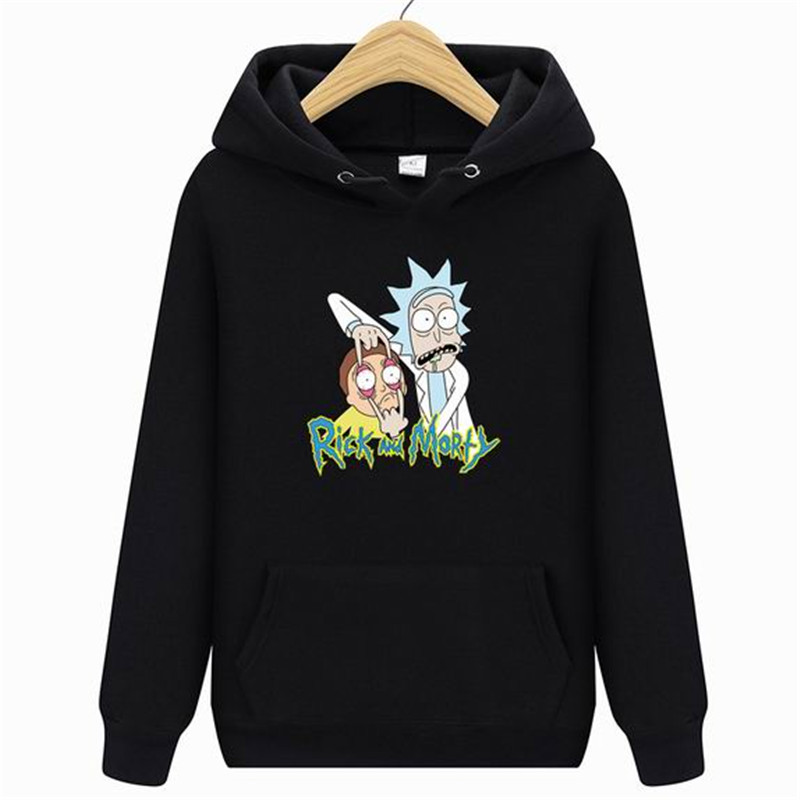 2019 New Fashion Rick Morty Hoodie Mens Skateboard Rick Morty Cotton Hooded Sweatshirt Men's And Women's Hooded Pullover