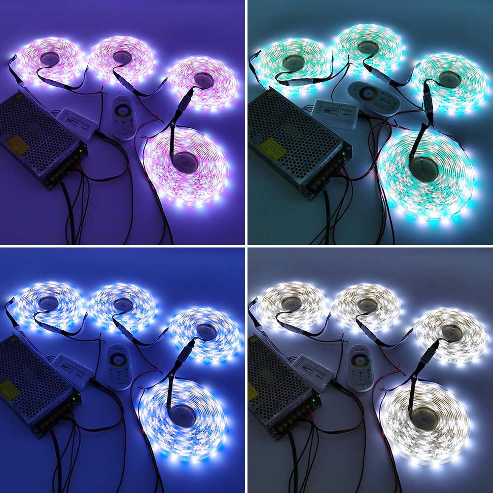 LED tira de 10m 20m 30m 12V RGB RGBW impermeable 5050 300LED de 5m kit de amplificador de cintas de cuerda LED con cinta de diodo IP65