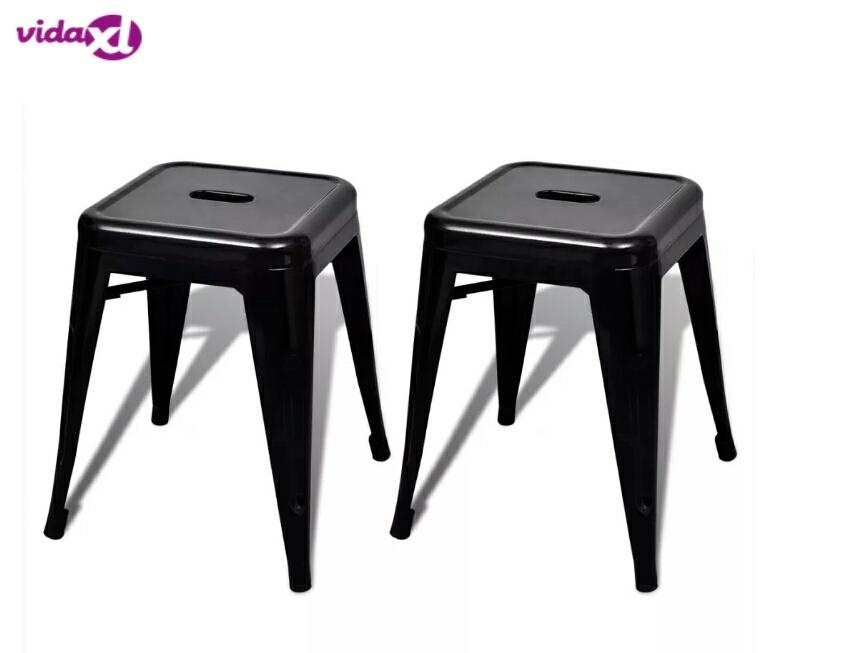 VidaXL 2PCS Modern Stool Stackable Outdoor Dining Stool Side Chair Living Room Low Leisure Stool Colorful Waiting Makeup Stool