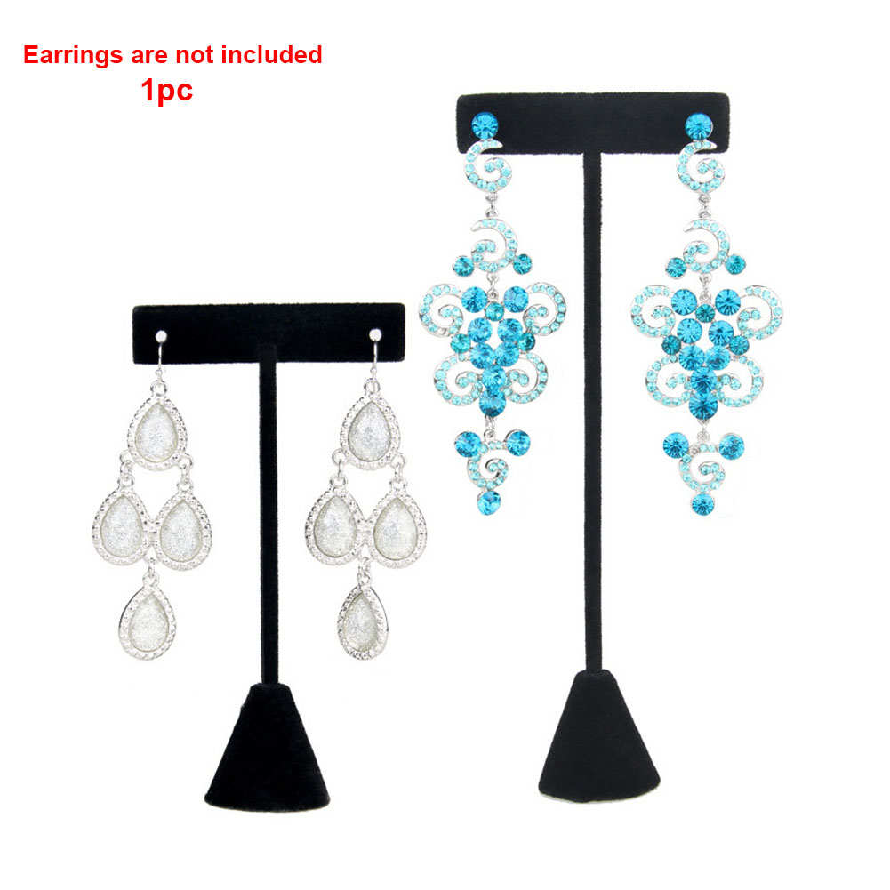 Counter Organizer Exhibition Home T Shape Jewelry Display Showcase Velvet Stud Hanging Storage Ornament Holder Earring Stand
