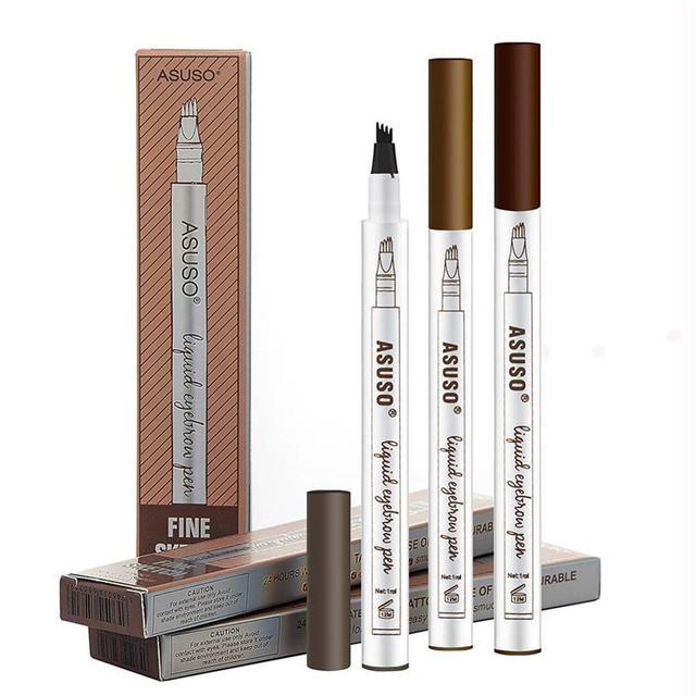 HOT Sale 1Pcs Women Makeup Sketch Liquid Eyebrow Pencil Waterproof Brown Eye Brow Tattoo Dye Tint Pen Liner Long Lasting Eyebrow 5