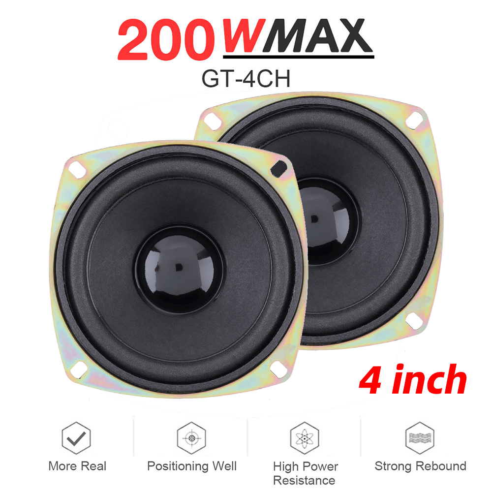 2pcs 4 Inch 200W Universal Car HiFi Coaxial <font><b>Speaker</b></font> Vehicle Door Auto Audio Music Stereo Full Range Frequency <font><b>Speakers</b></font> for Cars image