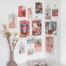 Ins Cartes postales artistiques rétro, célèbres tableaux, accessoires de décoration murale, carte autocollante, pour travaux manuels ou carte de vœux, 15 feuilles,
