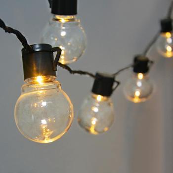 2 5M 5M żarówka dekoracyjna płot ogrodowy oświetlenie zewnętrzne kinkiet LED światło werandy 220V 110V wtyczka do usa ue luces led decoracion Xmas tanie i dobre opinie Lcamaw 110-240 v 1 year Wakacyjny Z tworzywa sztucznego Klin Nikiel szczotkowany IP65 Wall Light String Garland waterproof