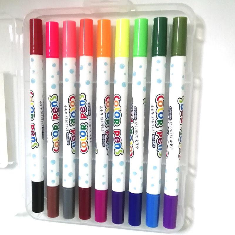 12/18/24 цветов s/box моющиеся ручки водяного цвета, маркеры для рисования, двойные ручки водяного цвета, цветные художественные школьные принадл...