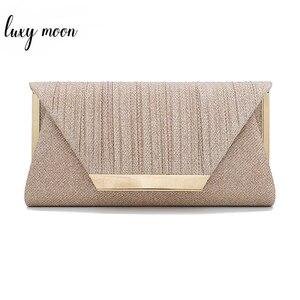 Image 1 - Bolsa de mão lua dourada feminina, bolsa de mão de luxo pequena elegante de ombro para mulheres 2019 bolsa zd1436