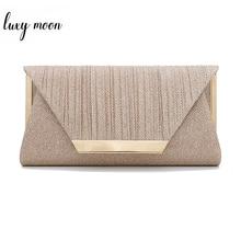 Luxy Mond Frauen Kupplung Geldbörse Gold Abend Clutch Bag Kleine Elegante Schulter Taschen für Frauen 2019 Luxus Handtasche bolsa ZD1436