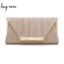 Luxy Moon kobiety torebka z uchwytem złota wieczorowa kopertówka małe eleganckie torby na ramię dla kobiet 2019 luksusowa torebka bolsa ZD1436