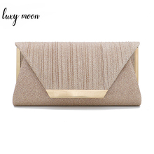 Luxy ירח נשים מצמד ארנק זהב ערב מצמד תיק קטן אלגנטי כתף שקיות נשים 2019 יוקרה תיק bolsa ZD1436