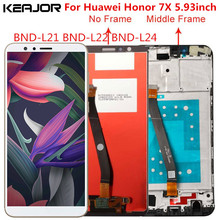 For Huawei Honor 7X Lcd Screen Tested Lcd Display+Touch Screen With Frame Replacement For Huawei Honor 7X BND-L21 L22 5.93''