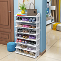 Экономичная домашняя стойка для обуви  водонепроницаемый прочный многослойный мини-Съемный Штабелируемый Шкаф Для Обуви  ПВХ лист