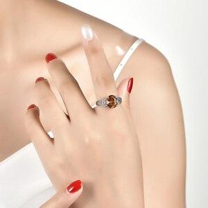 Image 5 - Zultanite cor mudou pedra anel de prata feminino design especial anel de casamento 6 quilates criado diaspore prata anel de noivado