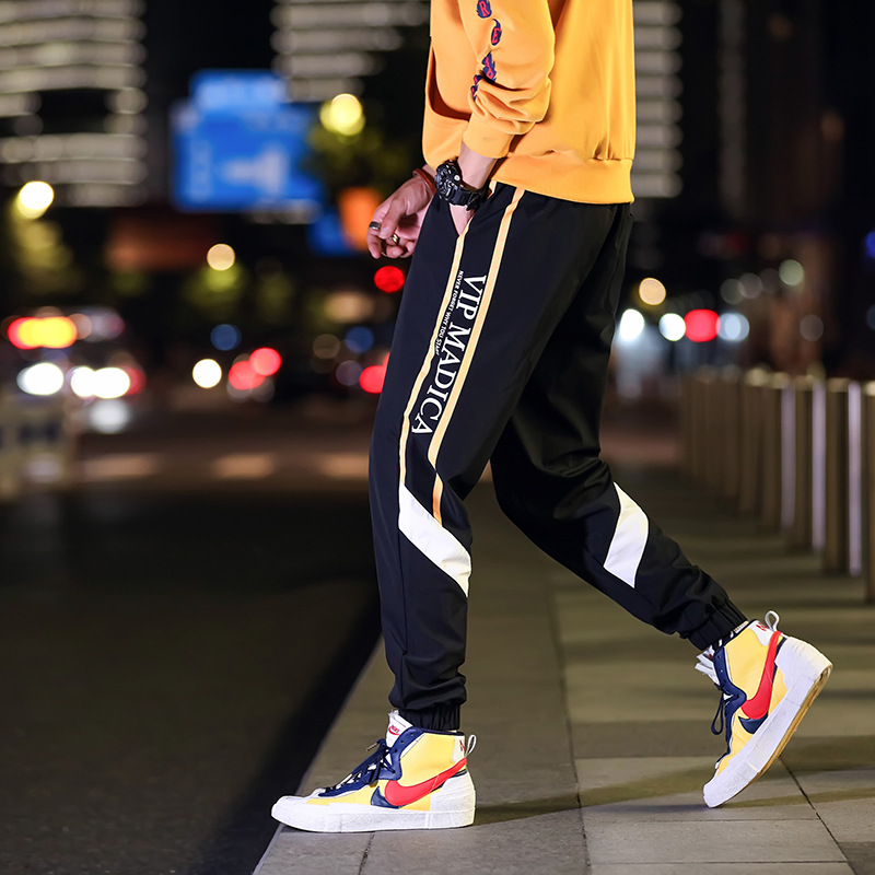 Spring Autumn Men's Casual Pants INS Trend Of Fashion Trousers Men Skinny Athletic Pants Spring And Autumn Men's Trousers