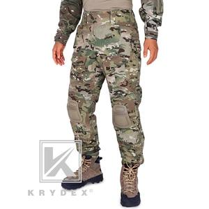 KRYDEX Tactical BDU G3 spodnie bojowe Multicam CP Style Battlefield szturmowe spodnie BDU jednolite w/ochraniacze na kolana do polowania wojskowego