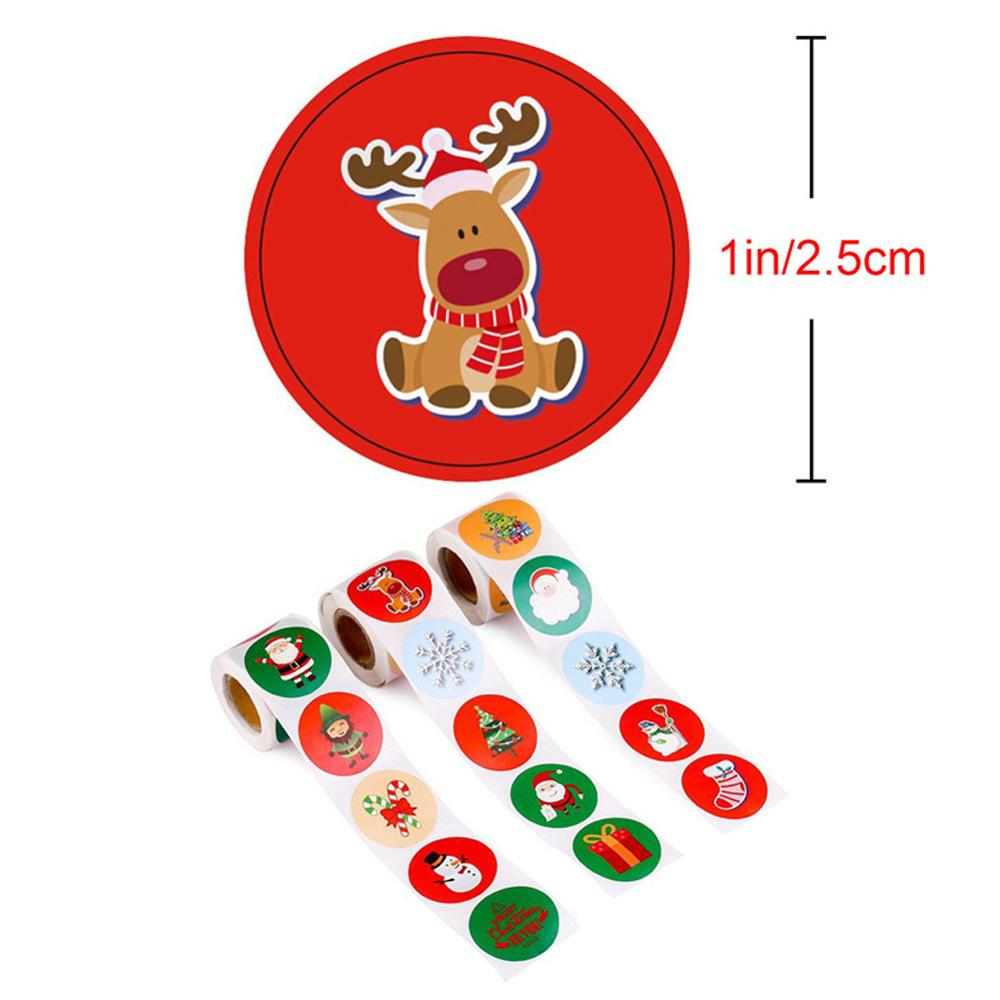 Christmas Self Adhesive Gift Stickers Merry Christmas Decorations Home Christmas Sealing Sticker Christmas Ornament Xmas Year  - buy with discount