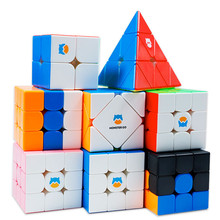 GAN MG 3X3X3 Series 356 Monster Go MG3 Magic Cube 356 MG Standard Magnets Non-Magnetic Tricolor Blue Pink Bump Speed M Cubes