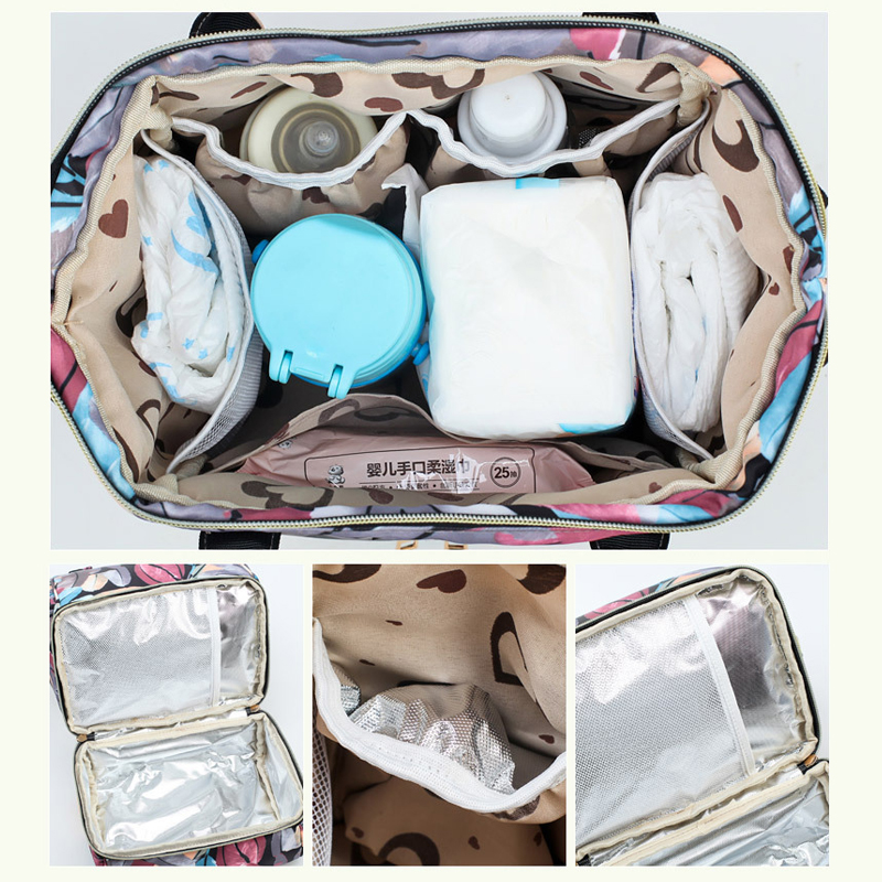 H8fa318c6ca804dd891f5616c8e91f337V Diaper Bag Backpack For Moms Waterproof Large Capacity Stroller Diaper Organizer Unicorn Maternity Bags Nappy Changing Baby Bag