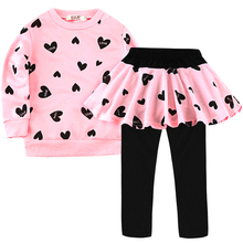 Toddler Girls Clothes Kids Autumn Winter T Shirt Pants Christmas Clothes Girls Printed Outfits Sport Suit Children Clothing set