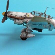 1:33 Германия Ju-87 модель самолета бомбардировщика 3D бумажная модель космическая библиотечная Бумага Ремесло картонный дом для детей бумажные игрушки